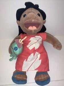 """Disney Lilo with Scrump Doll Plush 14"""" Bag Lilo and Stitch Plush"""