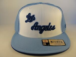 Los Angeles Lakers NBA Reebok Fitted Hat Cap Size 8 White Blue Hardwood Classics