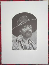 BARRY MOSER Wood Engraving HUCKLEBERRY FINN Pap Finn Pennyroyal Press SIGNED b