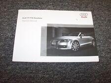 2009 Audi TT & TTS Roadster Owner Owner's Operator Manual Quattro Premium 2.0L
