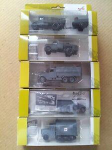 1:87 H0 Roco Herpa Minitanks 5 mal Deutsche Armee mit Zurüstteile WW II in OVP