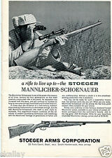 1963 Print Ad of Stoeger Arms Corp Mannlicher Schoenauer Rifle