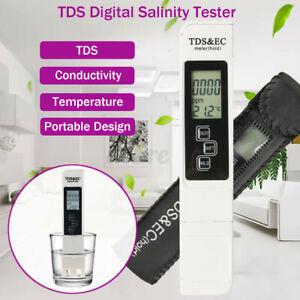 Salt Water Pool Fish Pond Test TDS Digital Salinity Temp Tester Meter Fish  QZ