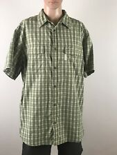 Columbia Mens Collared Button Front Shirt Short Sleeve Size XX Large
