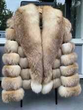 Red Fox Fur Coat Jacket