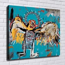 """32x28 inches Jean-Michel Basquiat """"Fallen Angel"""" handmade large oil painting"""
