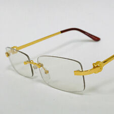30435c8280d1 Hip-Hop Buffs Migos Metal glasses Quavo Shades Rimless Gold Frame Clear  Square