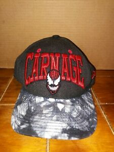 new era  9FIFTY SNAP BACK CARNAGE HAT CAP - SUPER RARE - MARVEL COMICS OSFM