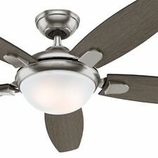 "Hunter Fan 54"" Modern Ceiling Fan with an LED Light and Remote Control"