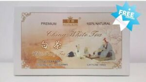 FRESH ! NEW 100 Bags Royal King 100% Natural China White Tea Caffeine Free