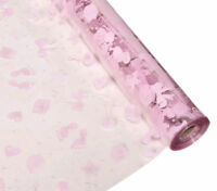 Baby Girl Cellophane Gift Wrap Baby Shower with FREE Pull Bow or Curling Ribbon