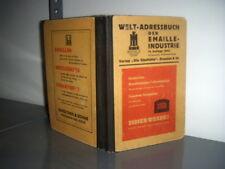 Weltadreßbuch der Emaille-Industrie 1943 - sehr interessant!