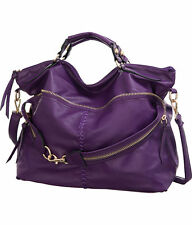 Purple Extra-Large/Big/Oversized  Suri Crossbody Convt. Tote Bag Designer:L&S