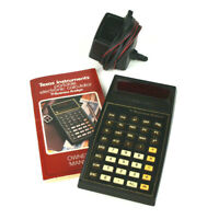VTG 70s Texas Instruments TI Business Analyst Calculator Instructions & Adapter