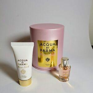 Acqua Di Parma Rosa Nobile Eau De Parfum and Body Cream Mini Travel Set   NEW