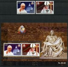 Sri Lanka 2015 Papst Franziskus Pope Francis Besuch Visit Pieta ** MNH