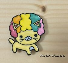 Cat Brooch Pin Badge Rainbow Afro Enamel Jewellery Cat Lover Gift Ginger New UK