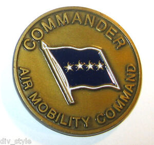 Air Mobility Command Challenge Coin presented by the Commander