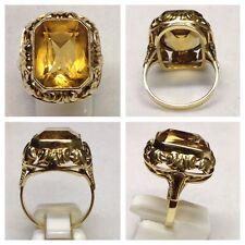 Edelstein Ring aus Citrin 585er Gold Goldring Citrinring 58 (18,4 mm Ø)