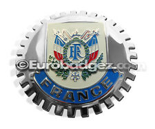 1- NEW Chrome Car Grille Grill Badge Emblem French FRANCE Coat of Arms MEDALLION