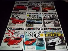 2011 CAR AND DRIVER MAGAZINE LOT OF 10 ISSUES - NICE AUTOMOBILE COVERS - M 637