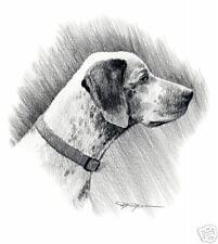 BOURBONNAIS POINTER Dog Pencil ART 11 X 14 Signed DJR