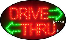 """US Seller Animated Drive Thru Led Sign neon lighted. Video inside.  21""""x13-1/2"""""""