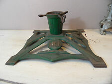 """#K24 Antique German Wwi Period """"Friede"""" (Peace) Cast Iron Christmas Tree Stand"""