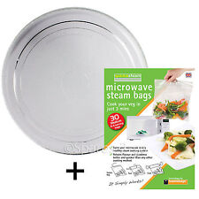 Smooth vetro piatto giradischi piatto in per Electrolux Forno a microonde a vapore VALVOLE Sacchetti