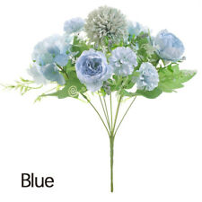 Fake Artificial Rose Peony Flower Hydrangea Wedding Home Decor Party Bouquet