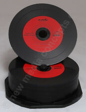 Vinyl CD Rohlinge Carbon, 25 in Cakebox 700 MB zum archivieren, Labelfarbe: rot