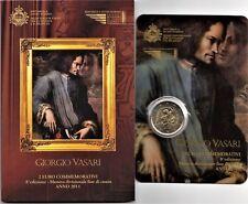 2011 San Marino 2 Euro Commemorativo 500 Anni Nascita Giorgio Vasari FDC BU