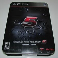 Dead or Alive 5 Collector's Edition Playstation 3 PS3 Brand New
