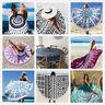 Bohemian Mandala Beach Towel Round Tapestry Blanket Yoga Shawl Bedspread Hot SU