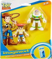 IMAGINEXT TOY STORY 4 Buzz Lightyear & Jessie 2.5 inch action figures /E