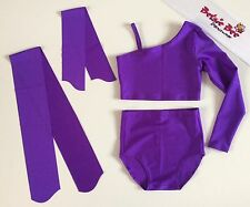 Age 7/9 Years Purple Lycra Dance Briefs/Crop Top Starter Beginner Practice 4 Pce