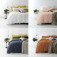 Park Avenue Vintage Washed Cotton Quilt Cover Set Queen King Super King