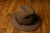 Vintage Backtrails by Dobbs Hat Made in USA Medium 7-7 1/8