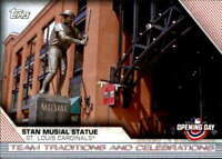 2020 Topps Opening Day Team Trad. & Celeb. #TTC-5 Stan Musial Statue Cardinals