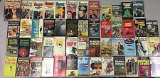 LOT OF 51 BOOKS THE ULTIMATE ECLECTIC PULP COLLECTION SPIES, ALIENS, COWBOYS +