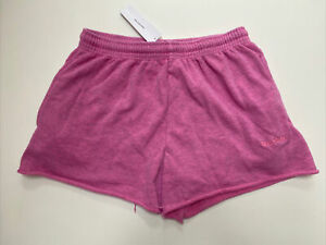 Urban Outfitters iets Frans Pink Cut-Off Jogger Shorts. Medium. RRP £28