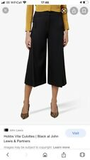 BNWT HOBBS Vita navy blue culottes cropped trousers UK 10 RRP £110