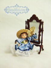 "Miniature 1:12 or 1:24 Porcelain Dolls 2 1/2"" Tall - F2"