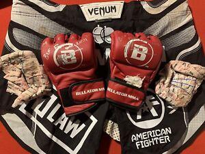 Matt Mitrione EVENT FIGHT WORN, 1 OF 1 Gloves Wraps Shorts Bellator 215 UFC