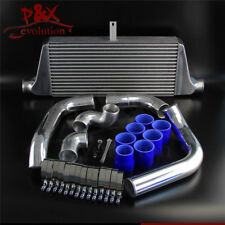 Front Mount Intercooler+Pipe Kit for Toyota Chaser Cresta Mark II JZX100/90 Blue