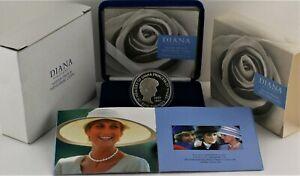 1999 Royal Mint Princess Diana Memorial Silver Proof Five Pound £5 coin COA Box