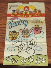 "1999 ""FURBY"" McDONALD'S HAPPY MEAL PROMO PAPER BAG"