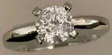 Platinum Engagement Ring with Cz Center by William Richey