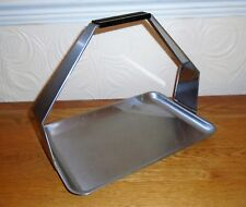 Fab Vintage Modernist Mid-Century WARMEX Stainless Steel Carry Serving Tray