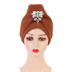 Fashion Women's Turban Caps Headscarf Bonnet Wedding Party Hat Wraps Hijab Scarf